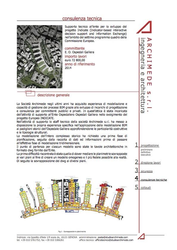 """Progetto """"Indicate"""" per E.O. Ospedali Galliera"""