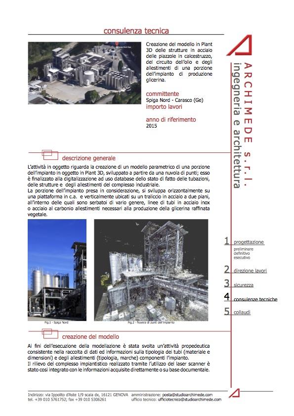 Progetto Plant 3D impianto produzione glicerina