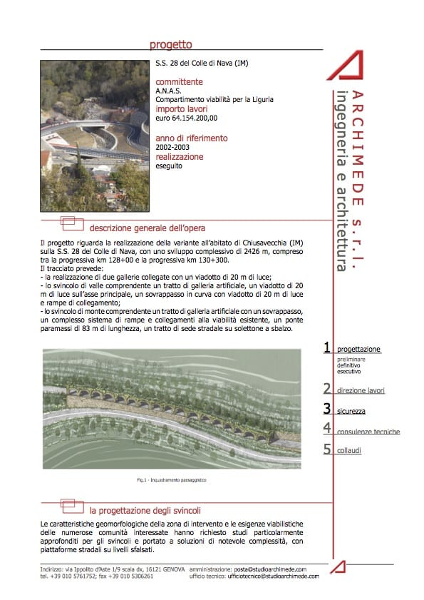Variante all'abitato di Chiusavecchia (IM)