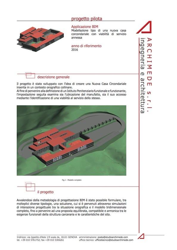 Nuova Casa Circondariale – Progetto pilota