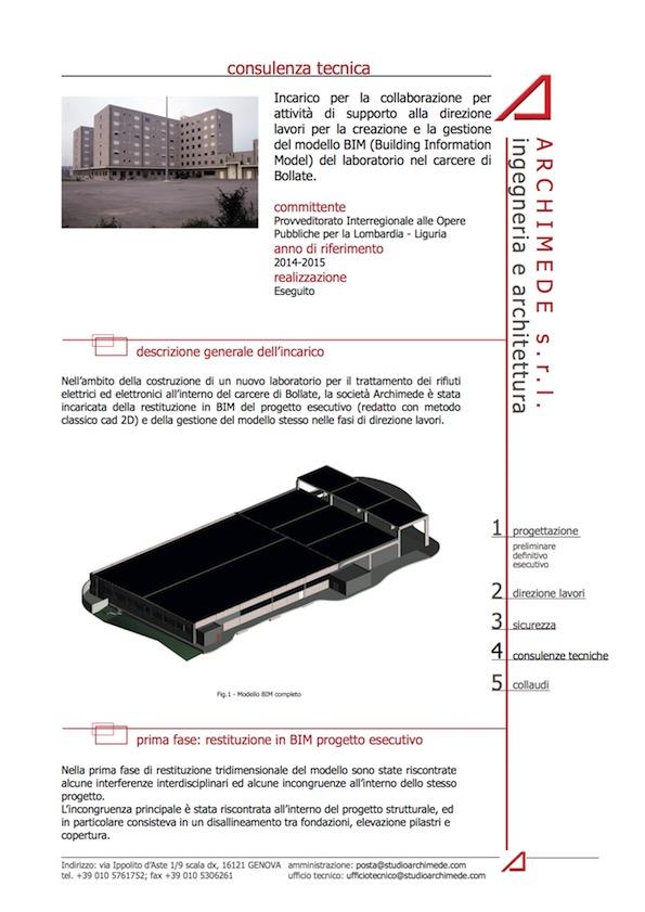 Progetto BIM Laboratorio Carcere Bollate