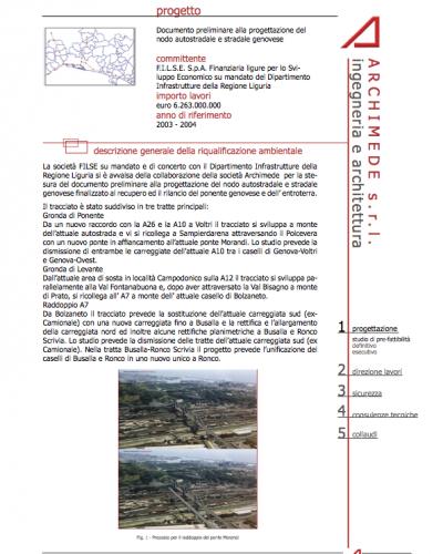 Documento preliminare alla progettazione del nodo autostradale e stradale genovese